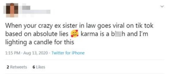 Comentario en twitter sobre chica que contó como su suegra arruinó su boda