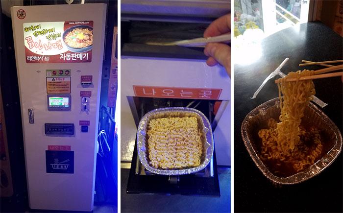 Dispensador de ramen; Corea es de otro mundo y estas fotos lo prueban