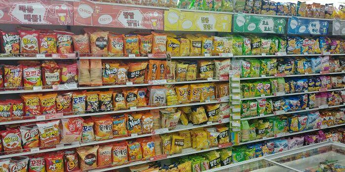 supermercado con ramen; Corea es de otro mundo y estas fotos lo prueban