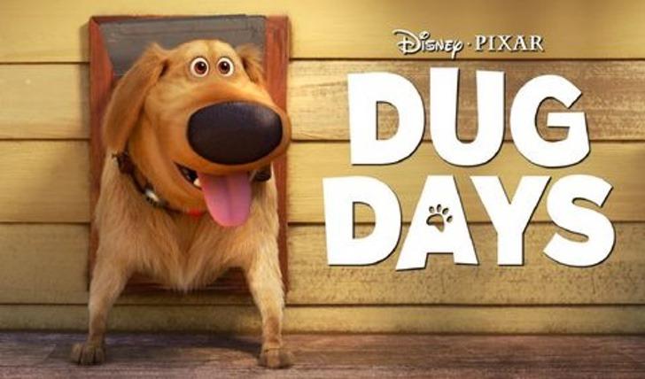 Poster promocional de los cortos de dug el perrito de Up