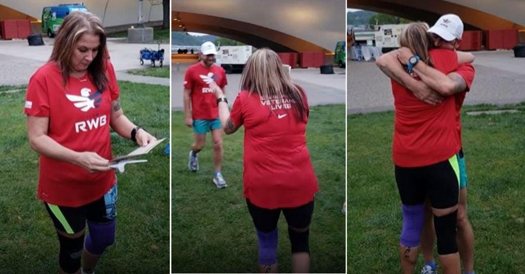 Madre ehijo en u maratón; Hijo sorprende a mamá biológica en un maratón después de 35 años