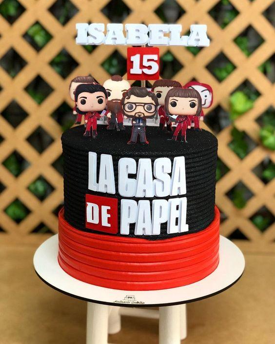 Pastel de cumpleaños; Ideas para una fiesta al estilo de La casa de papel