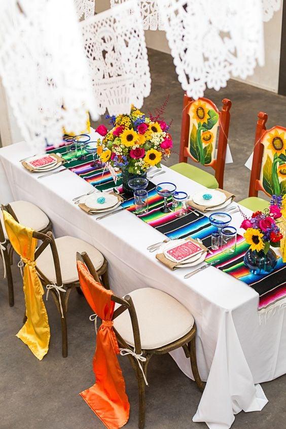 Decoración de mesas ;19 Ideas para una fiesta mexicana colorida y con mucho sabor