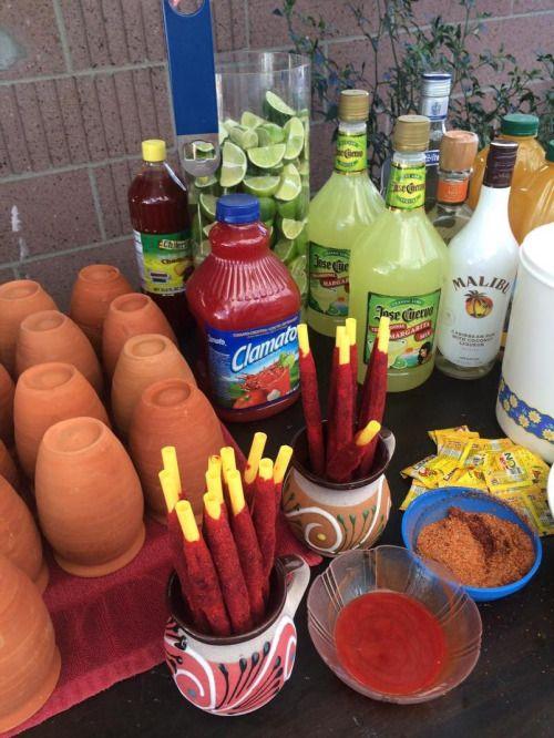 cantaritos ;19 Ideas para una fiesta mexicana colorida y con mucho sabor