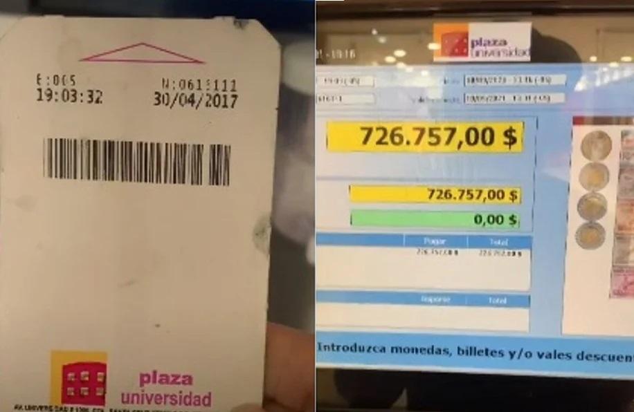 Intenta pagar boleto de estacionamiento de 2017 y se hace viral en TikTok