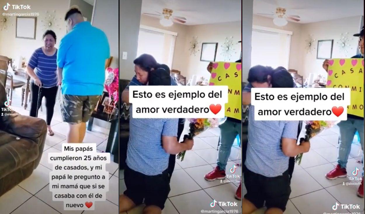 Le pide matrimonio a su esposa que sufrió derrame cerebral
