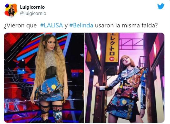 Lisa posando con un outfit diseñado por un mexicano