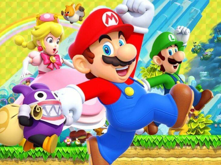Mario Bross junto a sus amigos
