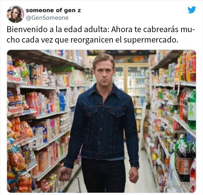 REyan Reynolds en el supermercado ;15 Memes sobre la vida adulta con los que sí te identificarás