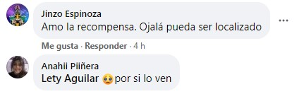 Comentarios en facebook sobre niña que perdió su peluche