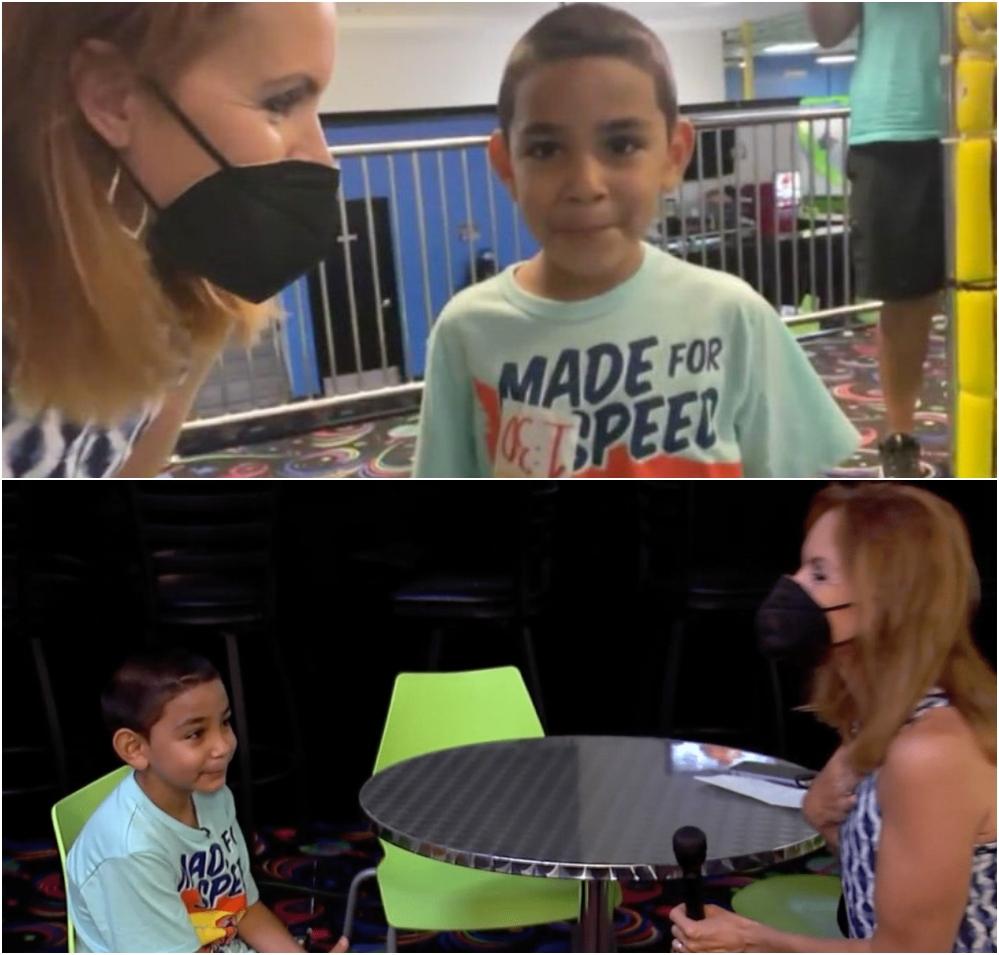 Niño en una entrevista; Niño de 6 años pide ser adoptado con tierno mensaje: 'Limpio mi cuarto y lavo los platos'