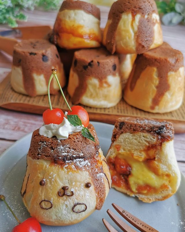Muffin de queso crema; Repostera japonesa crea postres tan 'kawaii' que no querrás comerlos