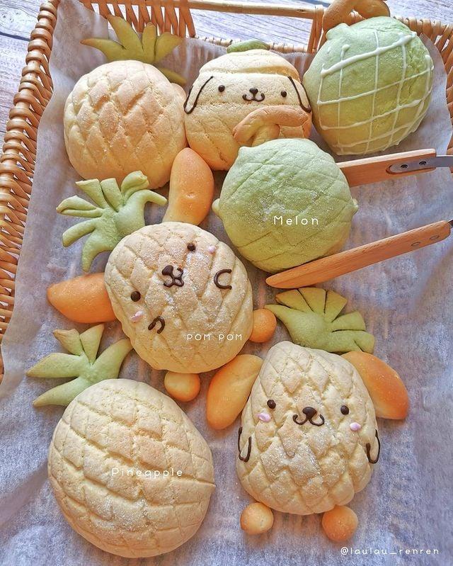 Melón pan; Repostera japonesa crea postres tan 'kawaii' que no querrás comerlos