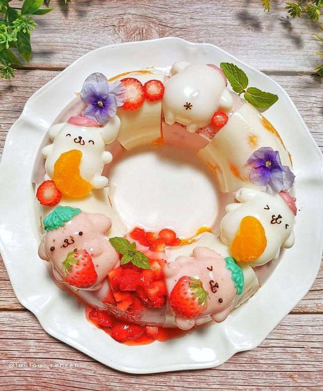 Rosca de panecillos; Repostera japonesa crea postres tan 'kawaii' que no querrás comerlos