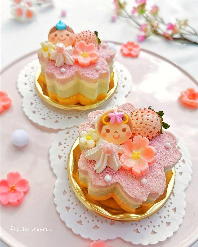 Pastelillo de flores; Repostera japonesa crea postres tan 'kawaii' que no querrás comerlos