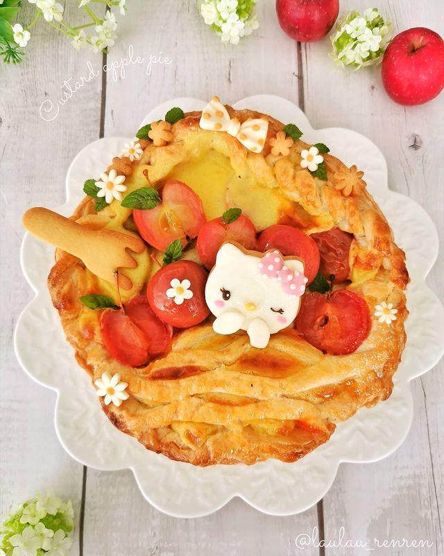 tarta de manzana; Repostera japonesa crea postres tan 'kawaii' que no querrás comerlos