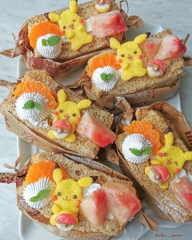 sándwich de jamón; Repostera japonesa crea postres tan 'kawaii' que no querrás comerlos