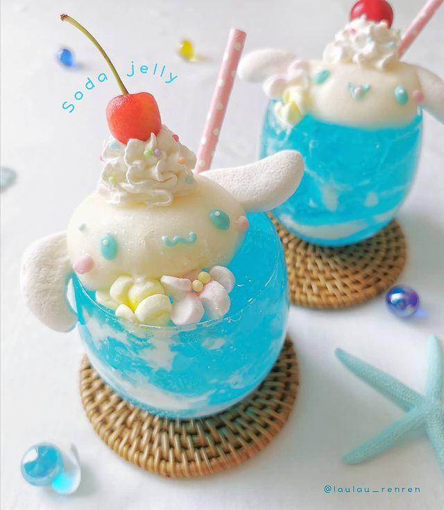 Bebida de gelatina; Repostera japonesa crea postres tan 'kawaii' que no querrás comerlos