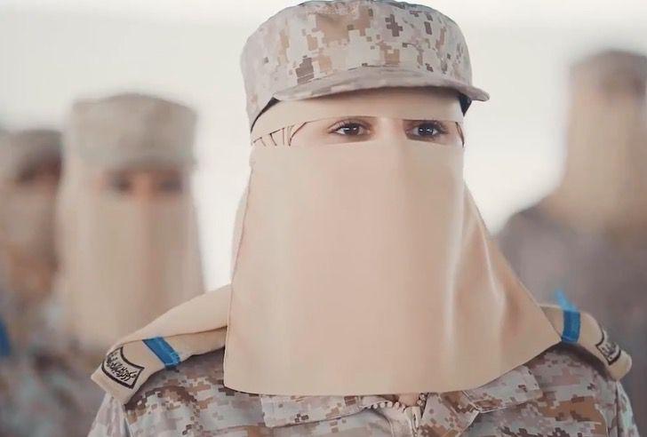 Mujeres saudi en ele ejercito