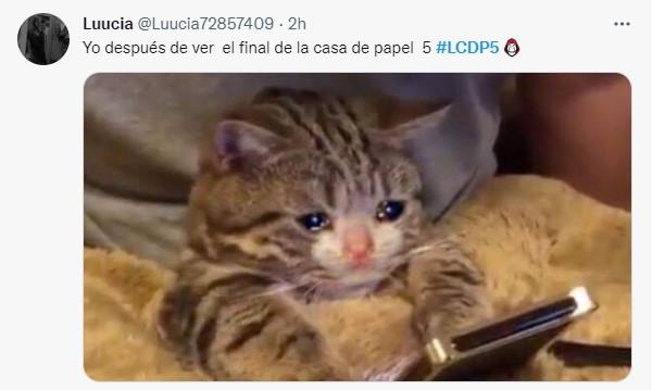 Reacciones de twitter sobre la última temporada de la casa de papel