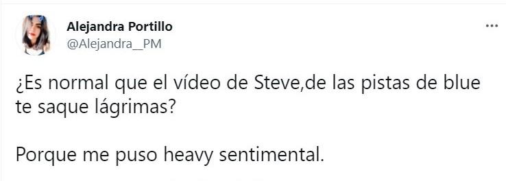 Tuit sobre el mensaje de Steve de las pistas de Blue; celebración Nickelodeon