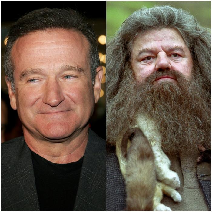 Robin Williams como Rubeus Hagrid