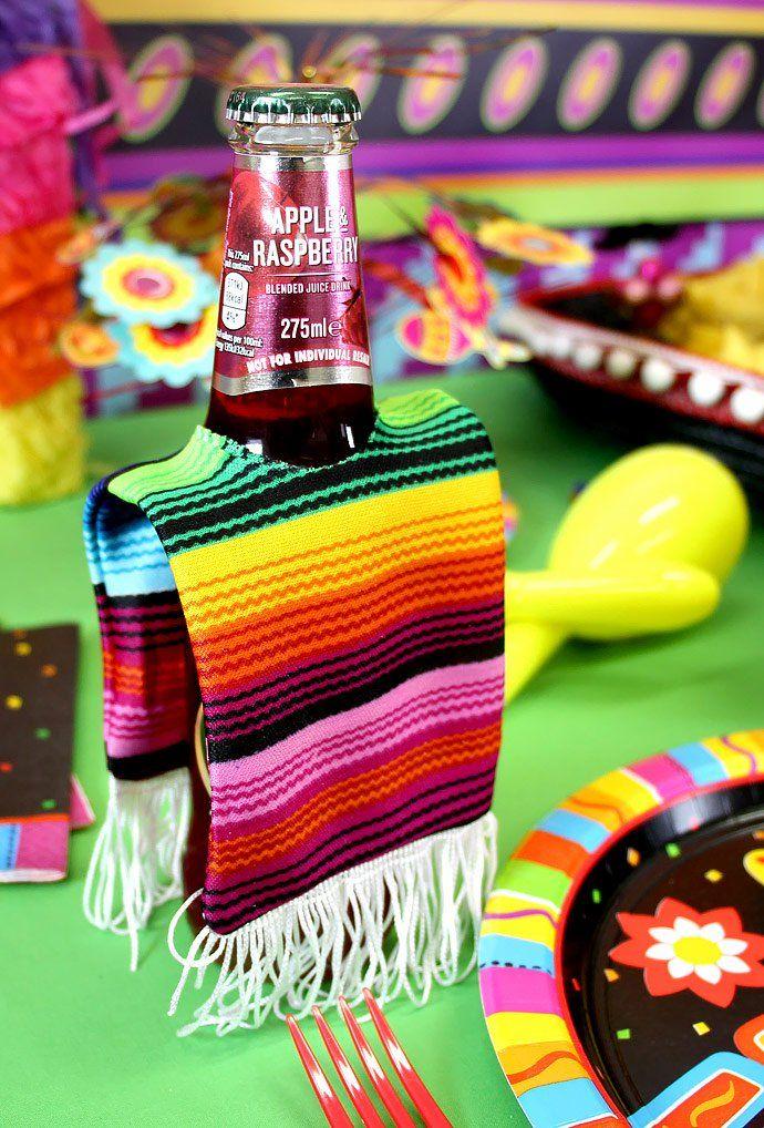 cerveza con zarapito ;19 Ideas para una fiesta mexicana colorida y con mucho sabor