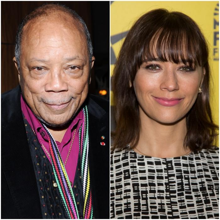 Quincy Jones y Rashida Jones