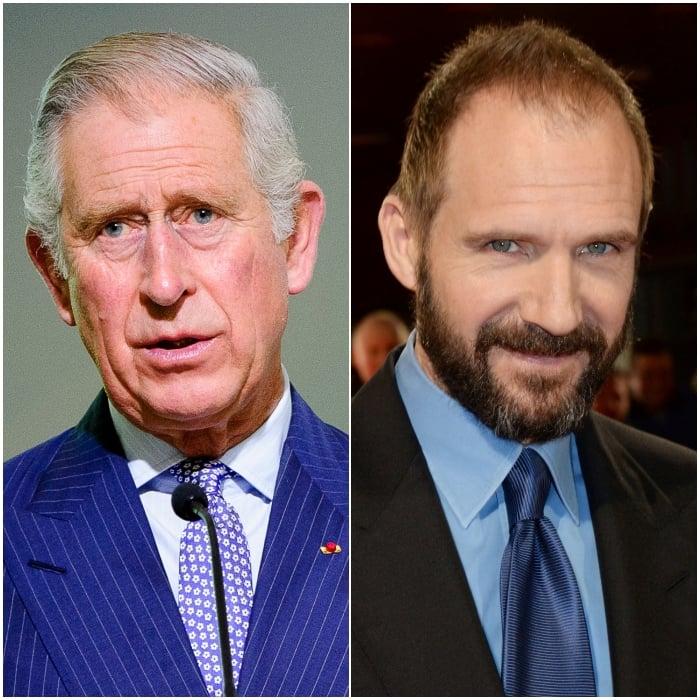 Príncipe Carlos y Ralph Fiennes