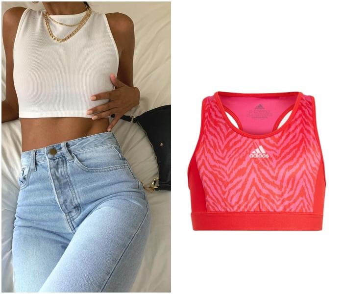 brasier deportivo, sports bra marca Adidas de Liverpool