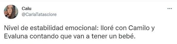 Tuit sobre Camilo y Evaluna anuncian que serán padres en su nuevo videoclip 'Índigo'