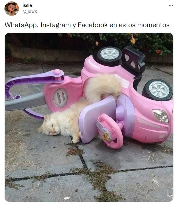 Memes sobre la caída de facebook
