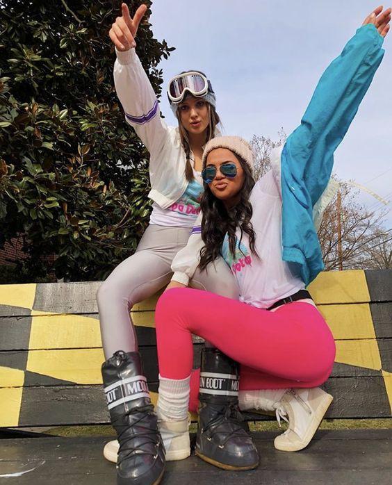 Esquiadoras ;15 Increíbles disfraces que puedes lograr con tu ropa de gym