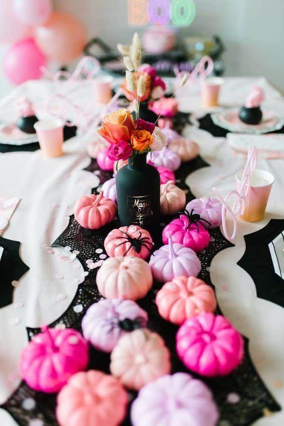 Decoración de mesas ;18 Ideas para celebrar tu baby shower en Halloween