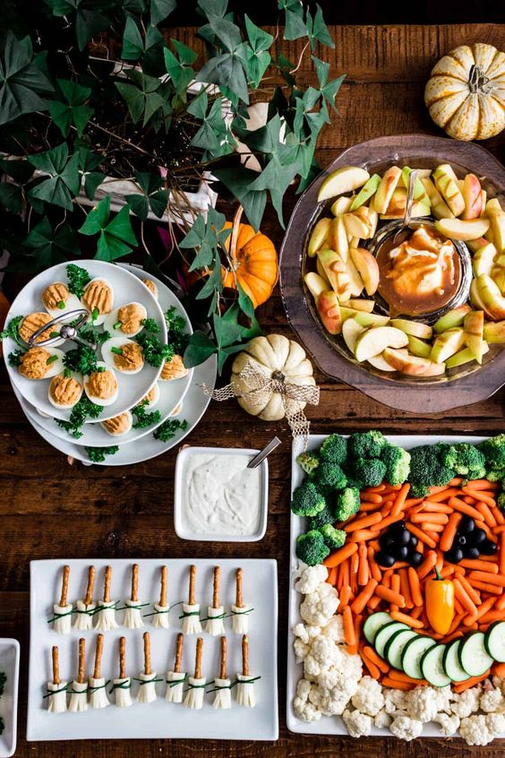 Barra comida sana ;18 Ideas para celebrar tu baby shower en Halloween