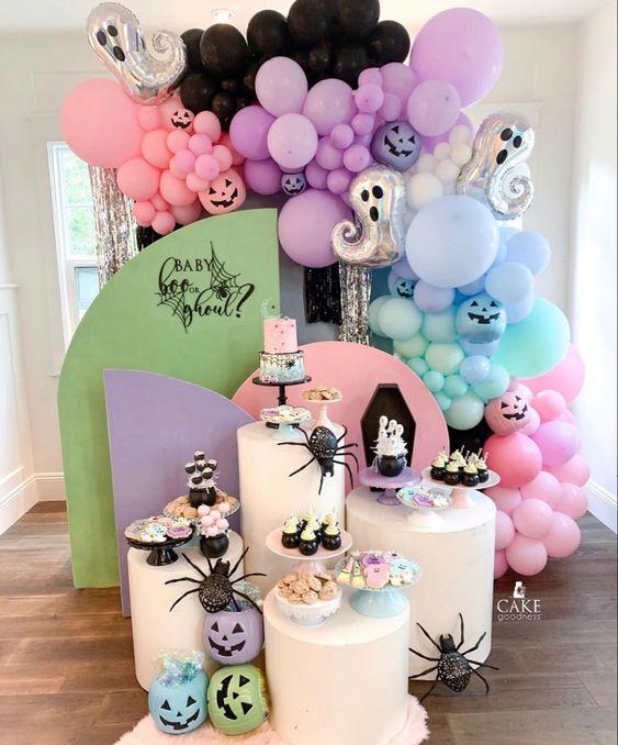 Set de fotografía ;18 Ideas para celebrar tu baby shower en Halloween