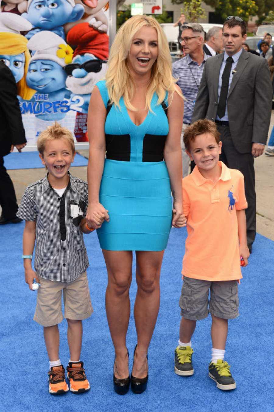 Britney Spears junto a sus hijos