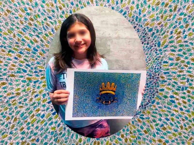 Niña mexicana gana concurso internacional con dibujo del dios de la lluvia