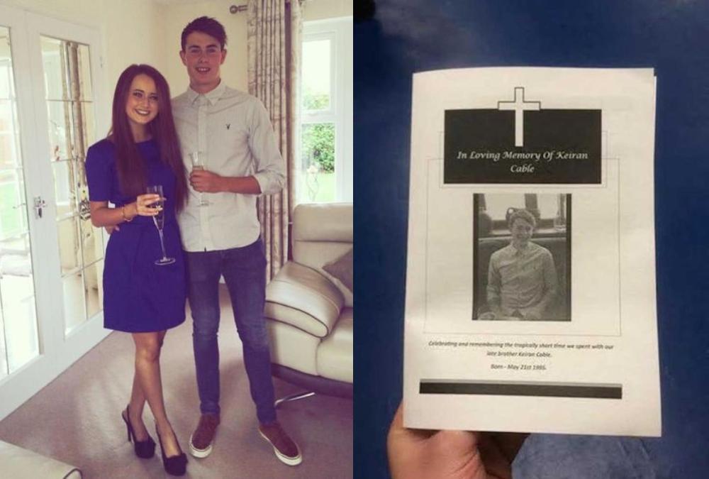 Chico junto a su novia; Organizan funeral para su amigo porque ya no lo ven desde que tiene novia (1)