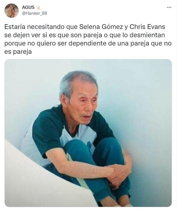 Tuit sobre Selena Gómez y Chris Evans son vistos juntos y Twitter ya reaccionó con memes