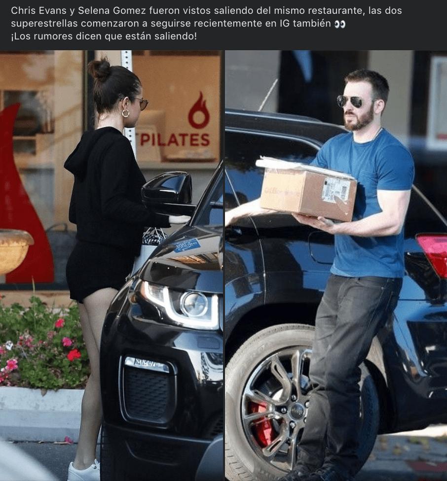 Selena Gomez y Chris Evans