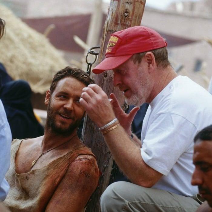 Ridley Scott y Russell Crowe