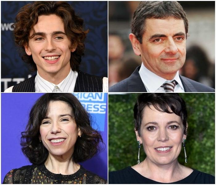 Timothée Chamalet, Rowan Atkinson, Sally Hawkins y la ganadora del Oscar, Olivia Colman