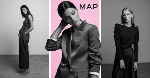 Chicas modelando ropa de la línea MAP de Liverpool